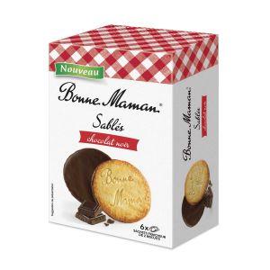 Butterkekse mit einem Überzug aus dunkler Schokolade