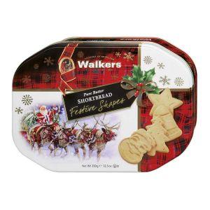 Shortbread in weihnachtlichen Formen, in festlicher Reliefdose verpackt