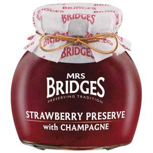 Erdbeer Konfitüre extra mit Champagner verfeinert.