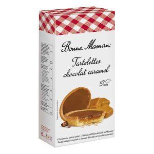 Feingebäck-Törtchen mit Milchschokolade und Karamell