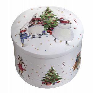 Cremiges Butterkaramell mit Vanillegeschmack in einer weihnachtlichen Geschenkdose.