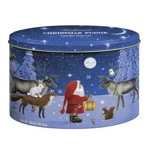 Butterkaramell mit Vanillegeschmack in einer attraktiven, weihnachtlichen Geschenkdose mit Reliefdruck.