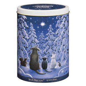 Weihnachtliche Geschenkdose, randvoll gefüllt mit leckerem Vanille Fudge