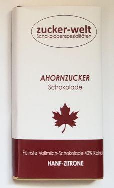 Feinste Hanf-Zitronen-Früchtetee Vollmilchschokolade mit Ahornzucker 65g