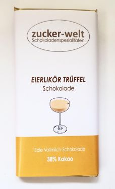 Edle Vollmilchschokolade mit Eierlikör-Sahne-Trüffelfüllung 70g
