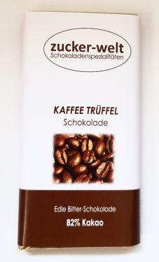 Edle Bitterschokolade mit Kaffee-Sahne Trüffelfüllung70g